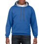 Gildan Sweater Contrast Hood HeavyBlend royal blue/gy S