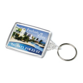Acrylic Passport Keyfob 41x61mm