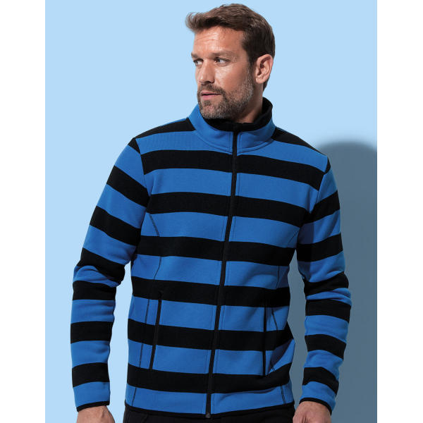 Active Striped Fleece Jacket Men