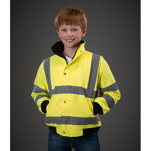 Kids Hi-Vis Bomber Jacket