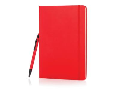 A5 hardcover notitieboek met touchscreen pen, zwart