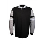 Men's striped sleeves rugby polo