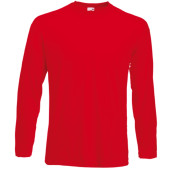 Valueweight long sleeve t (61-038-0) red xl