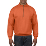 Gildan Sweater 1/4 Zip HeavyBlend orange XXXL
