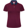 Dnm forward / women polo shirt denim / burgundy s