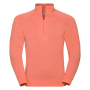 Adults HD 1/4 Zip Sweat, Coral Marl, XXL, RUS