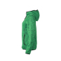 Ladies' Knitted Fleece Hoody - groen-melange/zwart