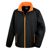 Core printable soft shell black / orange 4xl