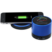 Cosmic Bluetooth® speaker en draadloos oplaadstation - Koningsblauw