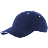 Brent 6 panel sandwich cap - Navy