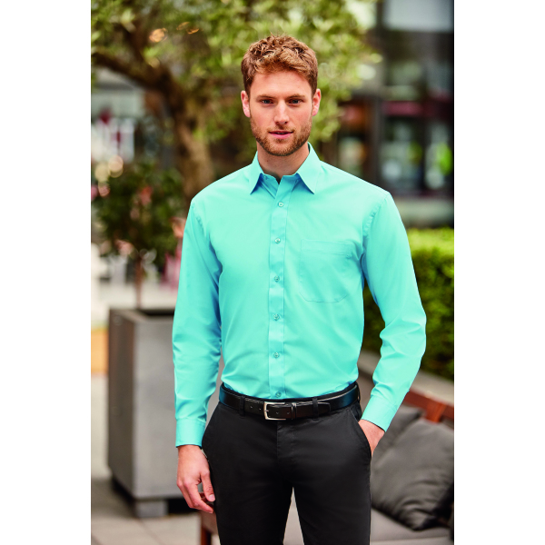 Mens Long-Sleeve PolyCotton Poplin shirt