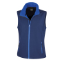 Bedrukbare Soft Shell Bodywarmer Dames M Navy/Royal