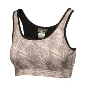 Asana Bra Top - Rock Grey Print