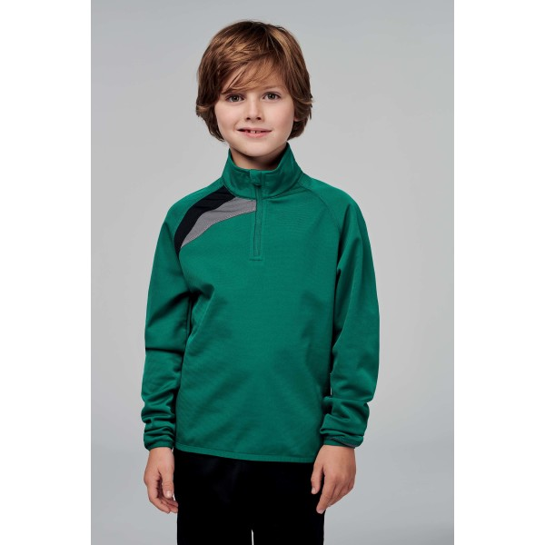 Kindertrainingsweater met ritskraag