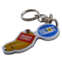 H-920 Keyholder in Silver Finishing With Easy Hand-Held Coin (Logo Printing)