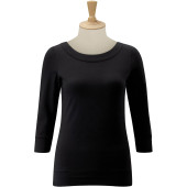 3/4 sleeve stretch top black xs