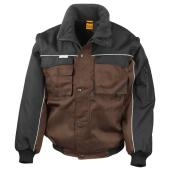 Zip Sleeve Heavy Duty Jacket, Tan/Black, S, Result Work-Guard