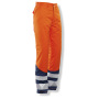 2214 Winter trouser Cl.2 HV Orange/Navy l