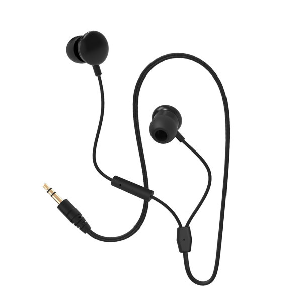Moyoo Wired Earphones Whiteh mic Black
