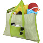Bonbini foldable beach tote and mat - Lime