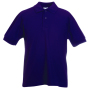 Kids 65/35 Polo, Purple, 14-15jr, FOL