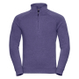 Adults HD 1/4 Zip Sweat, Purple Marl, XXL, RUS