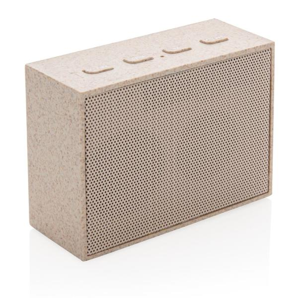 Wheat Straw 3W Mini Speaker, brown