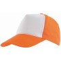 5-panel cap SHINY - oranje, wit