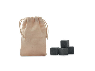 ROCKS - 4 stone ice cubes in  pouch