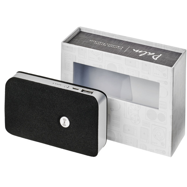 Palm Bluetooth® speaker met draadloze powerbank