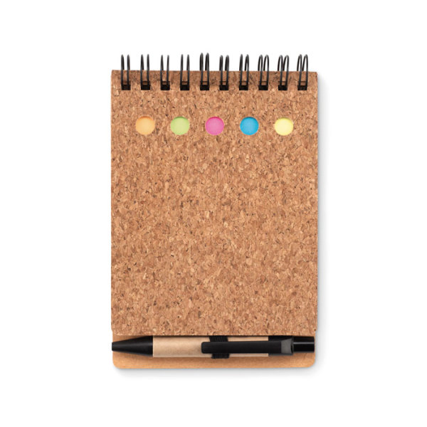 MULTICORK - Cork notebook and sticky notes