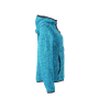 Ladies' Knitted Fleece Hoody - blauw-melange/zwart