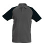Baseballpolo slate grey / black xl