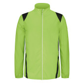Herenwindbreaker lime / black l