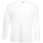 Valueweight long sleeve t (61-038-0) white l