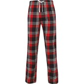 red / navy check xs