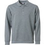 Clique Basic Polo Sweater grijsmelange 5xl