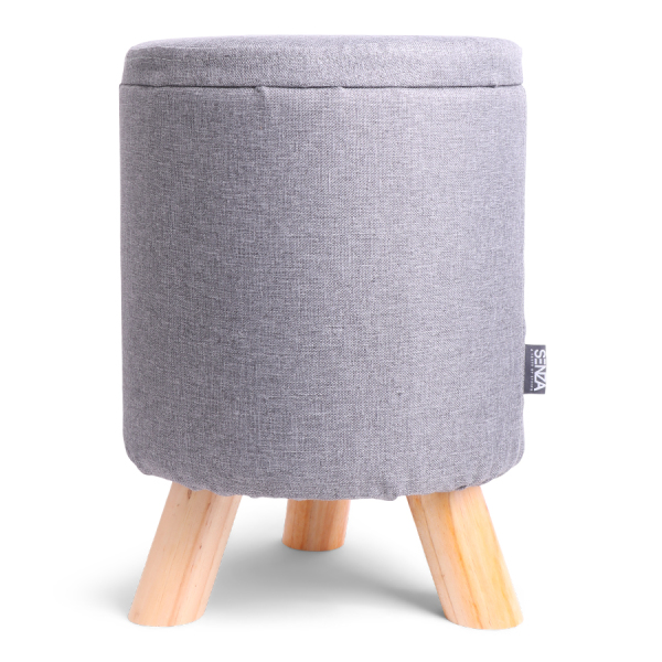 SENZA Storage Decoration Pouffe Light Grey