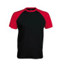 BASE BALL > T-SHIRT BICOLORE MANCHES COURTES black / red S