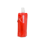 Drinkfles Karabijnhaak 500ml transparant rood