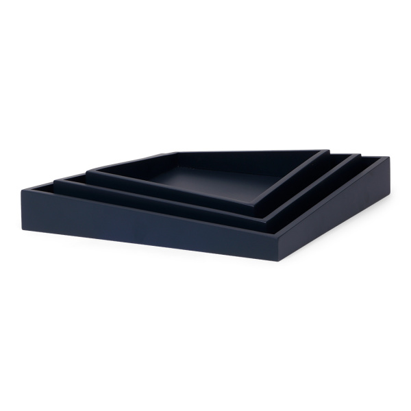 SENZA Asymmetric Trays /3 dark blue