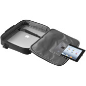 "15.6"" laptop en tablet tas - Zwart"