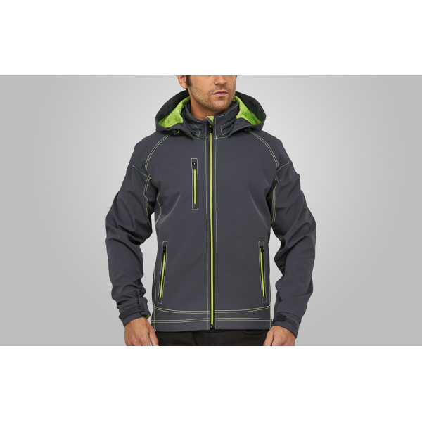 Macseis Jacket Softshell Twotone for him Grey/GN