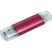 Aluminium On-the-Go (OTG) USB-stick - Rood - 1 GB