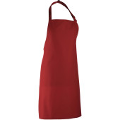 Colours bib apron burgundy one size