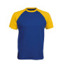 BASE BALL > T-SHIRT BICOLORE MANCHES COURTES royal blue / yellow L
