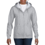 Gildan Sweater Hooded Full Zip HeavyBlend for her sports grey L