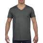 Gildan T-shirt V-Neck SoftStyle SS for him Dark Heather S