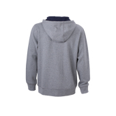 Men's Lifestyle Zip-Hoody - grijs-melange/navy