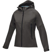 Coltan dames GRS-gerecycled softshell jack - Storm grey - S